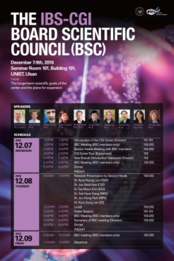The Conference for the IBS-CGI Board Scientific Council