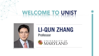 Special Seminar: Professor Li-Qun Zhang